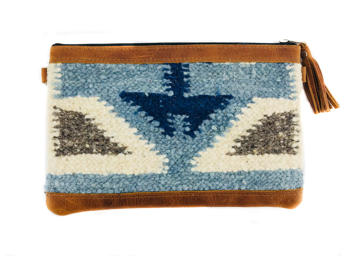 New 'MIA' Clutch Blue Geo