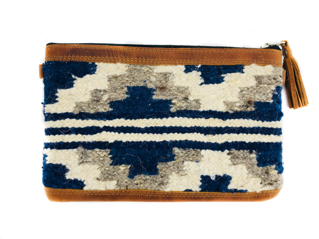 New 'MIA' Clutch Indigo Stripe
