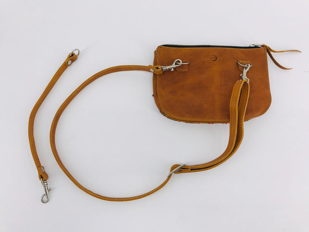 The 'Lily' Hip Satchel in Vintage Huipil #004