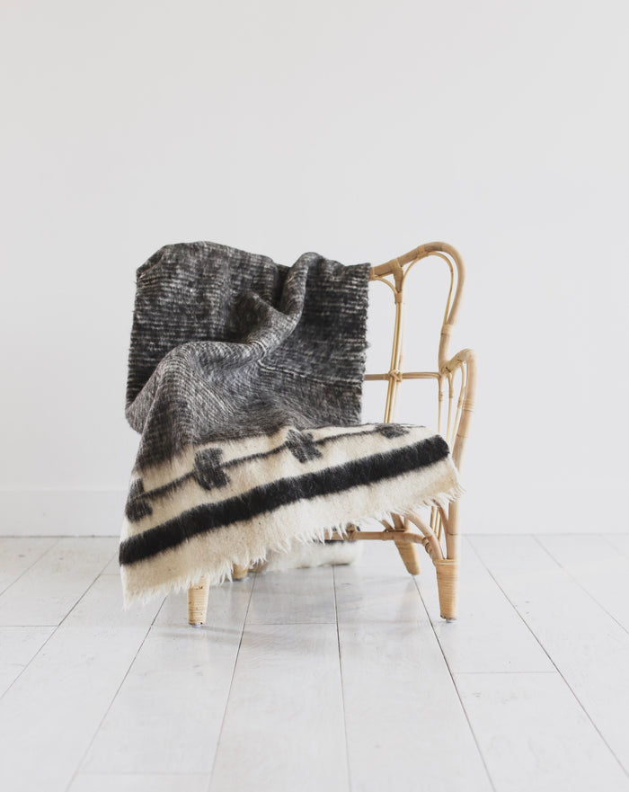 Artisan Wool Blanket in Black