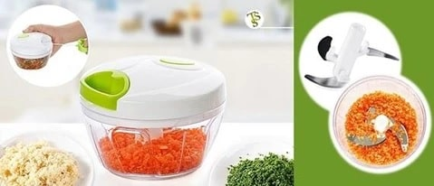 Manual Food Chopper - 3 Blades