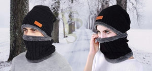 Knitted Beanie Hats and Scarf Sets for Men & Women.