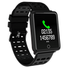 Square Smart Watch Bracelet, IP68, Waterproof Fitness - Variant: Black Color.