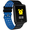 Square Smart Watch Bracelet, IP68, Waterproof Fitness - Variant: Blue / Black Color.
