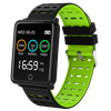 Square Smart Watch Bracelet, IP68, Waterproof Fitness - Variant: Green / Black Color