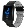 Square Smart Watch Bracelet, IP68, Waterproof Fitness - Variant: Grey / Black Color.