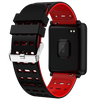 Square Smart Watch Bracelet, IP68, Waterproof Fitness - Variant: Red / Black Color.