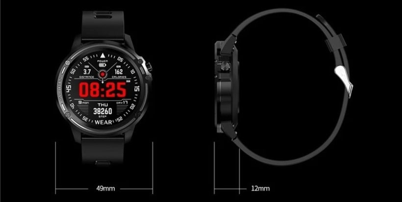 HD sports smartwatch, round screen, IP68 img Dimensions