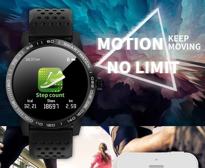 Smart watch T2, The latest waterproof sports smartwatch, IP67 img 5