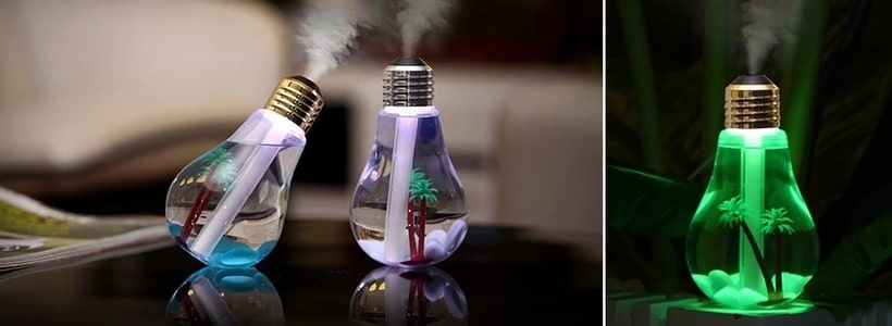 The aromatherapy diffuser LED bulb