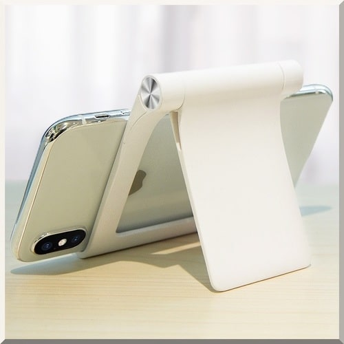 ROCK, Adjustable Desktop Stand for Phone & Tablet.