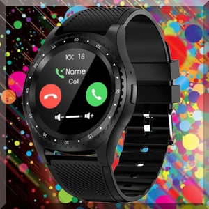 New Black Round Screen Design Sports Smart Watch. SSW 2""