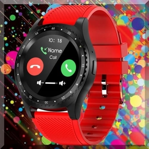New Red Round Screen Design Sports Smart Watch. SSW 2