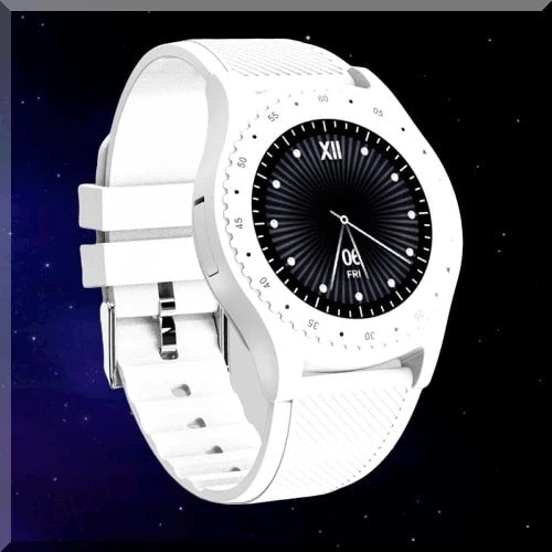 New White Round Screen Design Sports Smart Watch. SSW 2