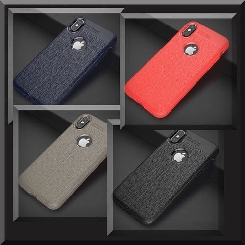TPU Leather-style Cases for iPhone Xr, Xs & Xs Max.
