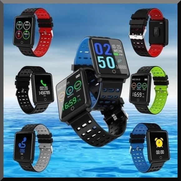 Square Smart Watch Bracelet, IP68, Waterproof Fitness.