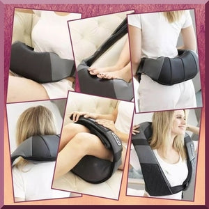 Electric heat massager, Neck kneading therapy.