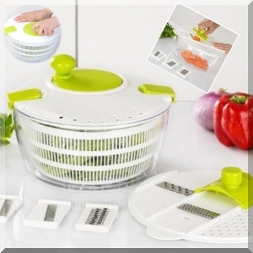 Salad Spinner & Slicer 7 In 1