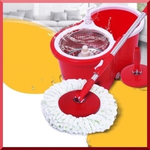 360° spinning mop with strong bucket.