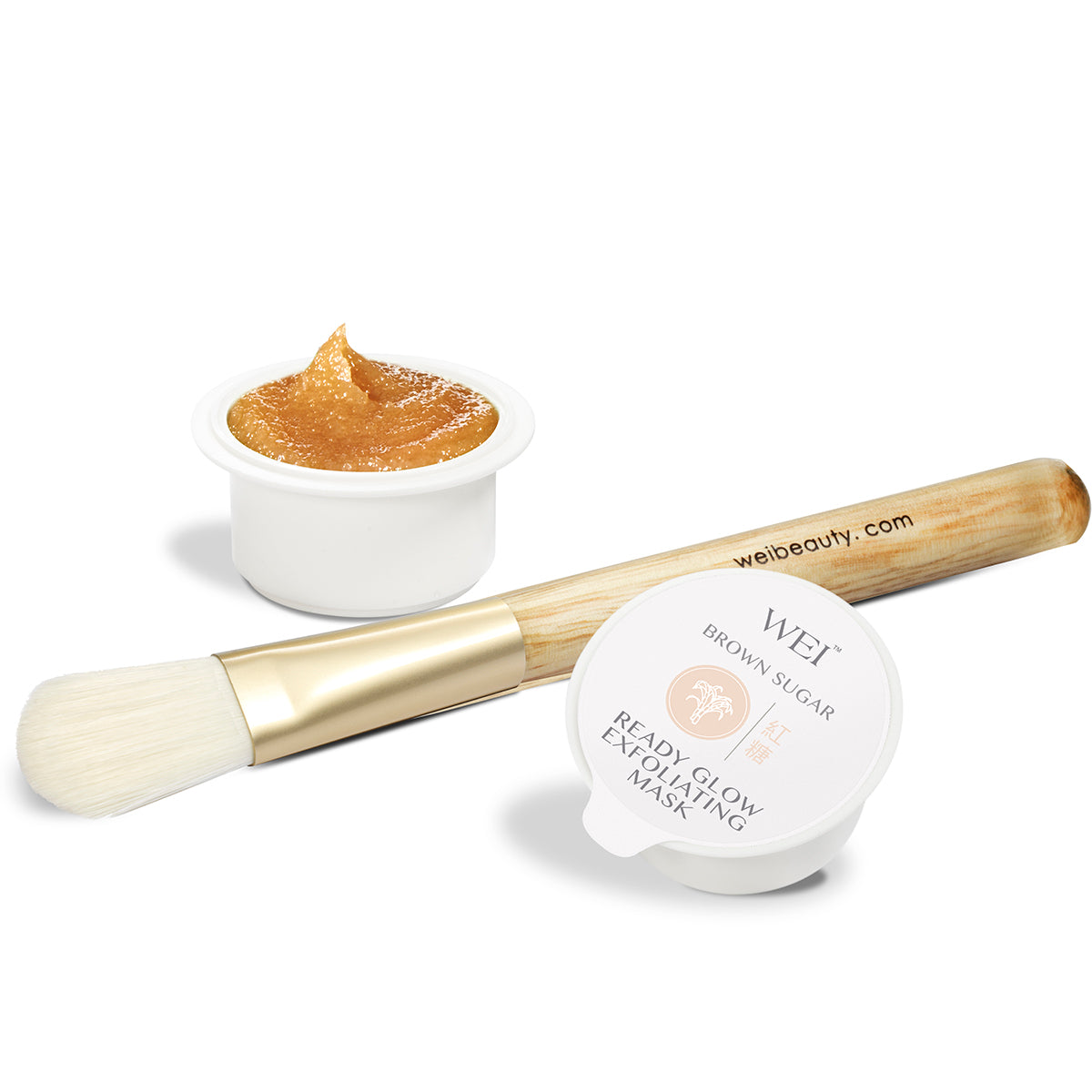 Brown Sugar Ready Glow Exfoliating Mask with brush applicator