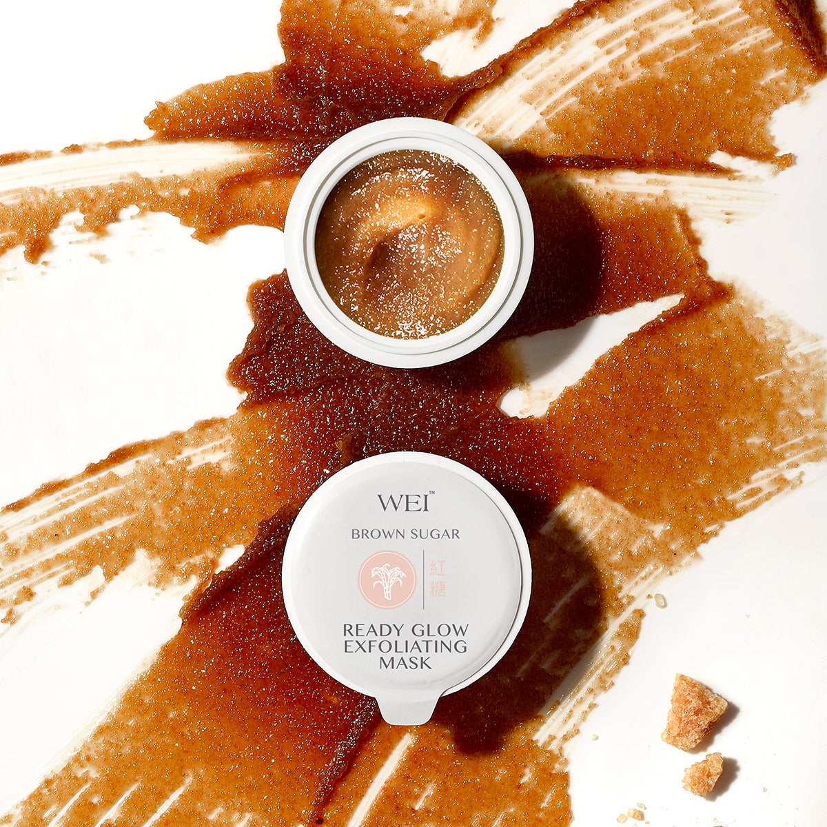 Brown Sugar Ready Glow Exfoliating Mask open pod