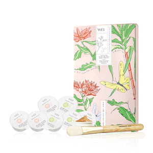 Two-in-One Purify and Glow Mask Collection with Brush