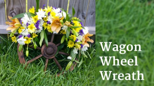 How to Make a DIY Wagon Wheel Wreath