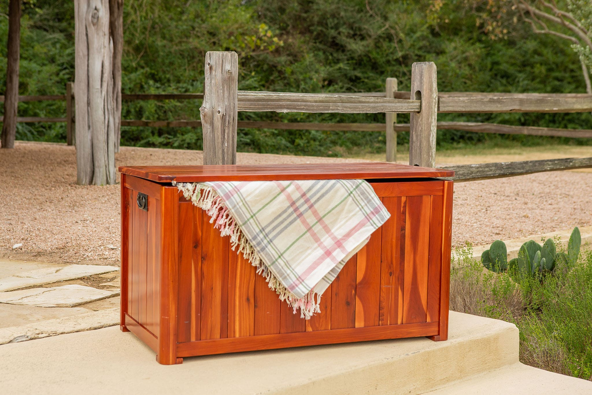 Cedar Storage Box display