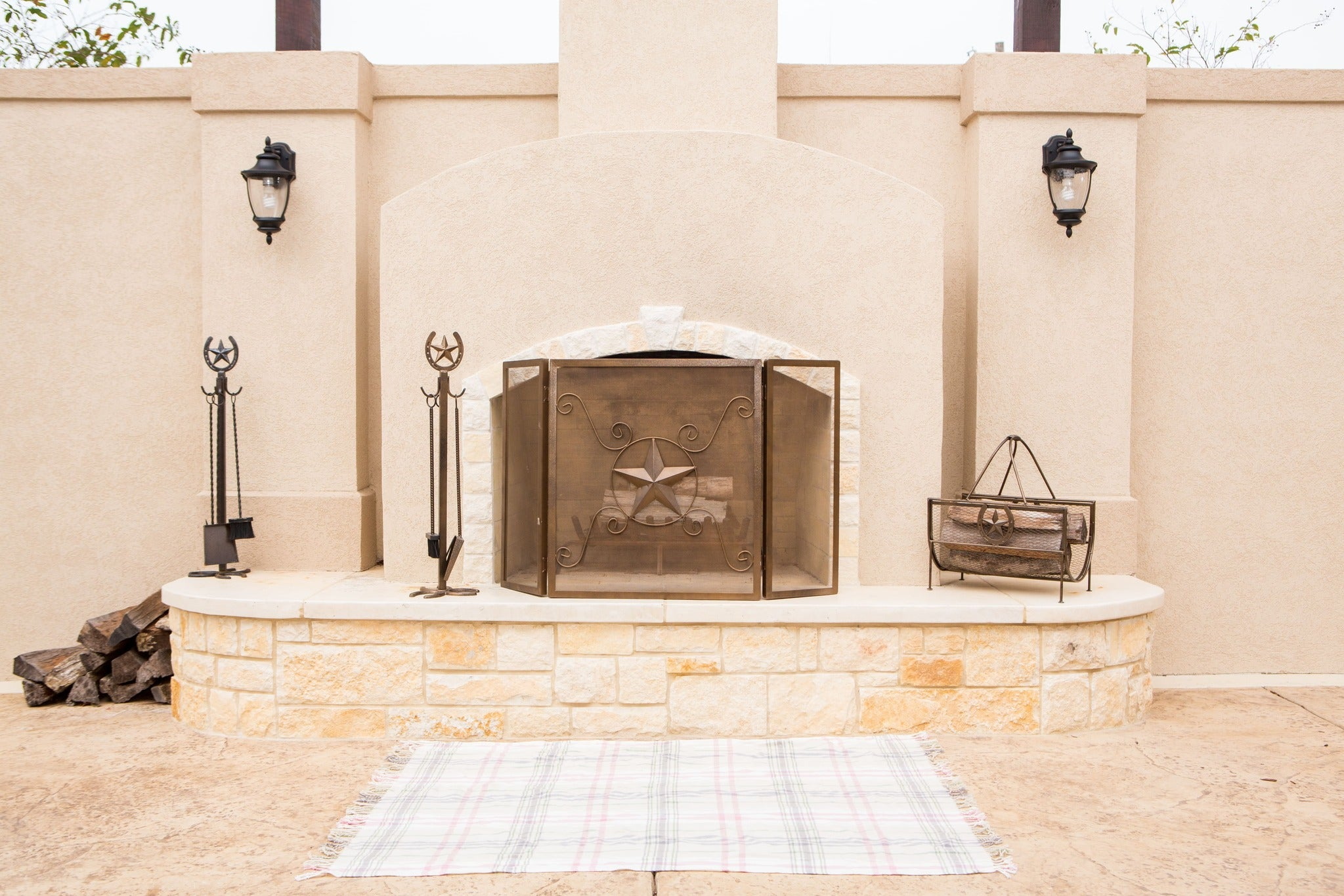 Metal Decor and Fireplace screen