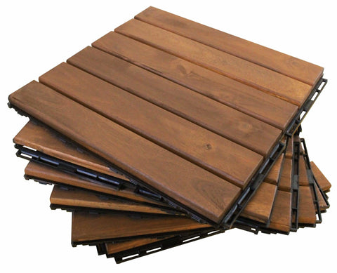 10-PK Wood Flooring - Straight - Patio