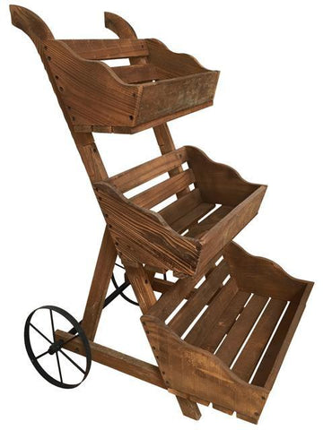3-Tier Garden Cart Planter - Planter