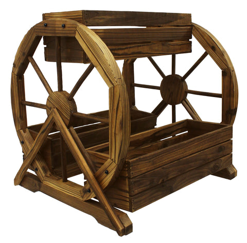 3-Tier Wagon Wheel Planter - Planter
