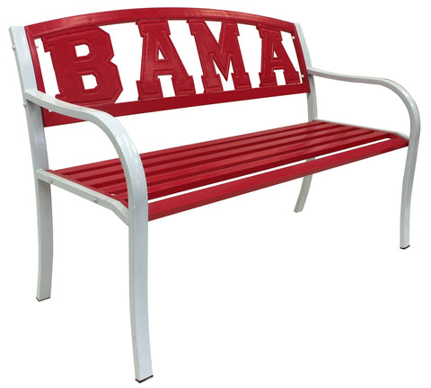 Alabama Crimson Tide BAMA Metal Bench - Metal Bench