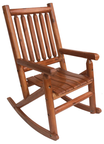 Amber-Log Porch Rocker - Porch Rocker