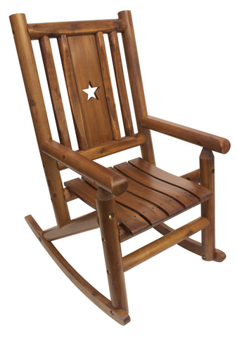 Amber-Log Star Porch Rocker - Porch Rocker