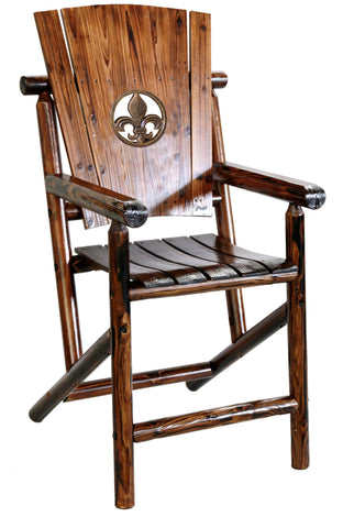 Char-Log Fleur-de-lis Bar Arm Chair - Arm Chair