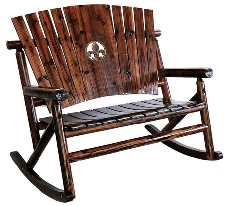 Char-Log Fleur-de-lis Medallion Double Rocker - Double Rocker