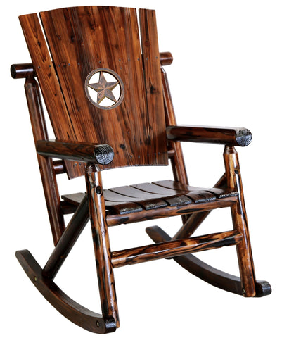 Char-Log Star Medallion Rocker - Rocker