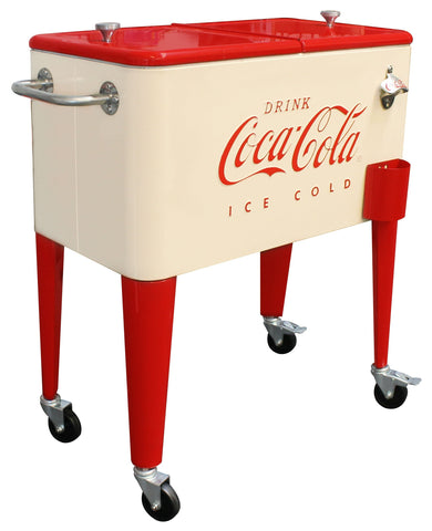 Coca-Cola® Cream Retro Cooler - Cooler