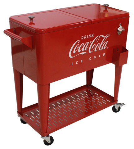 Coca-Cola® Embossed ICE COLD 80 qt. Cooler with Tray - Cooler