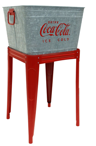 Coca-Cola® Galvanized Beverage Tub with Stand - Beverage Tub