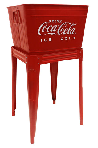 Coca-Cola® Red Beverage Tub with Stand - Beverage Tub
