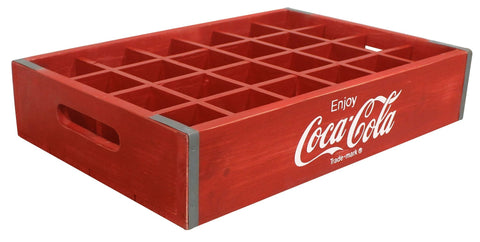 Coca-Cola® Vintage Wooden Crate with Cubbies - Decor