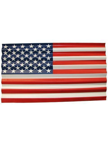 Corrugated Metal United States Flag - Decor