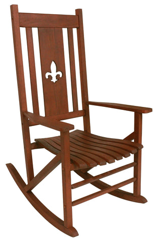 Heartland Natural Fleur de Lis Classic Porch Rocker - Porch Rocker