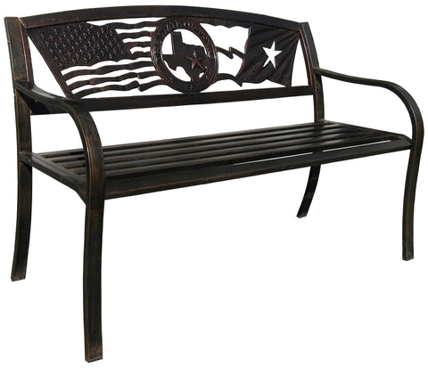 Flags Over Texas Garden Bench - Garden Bench