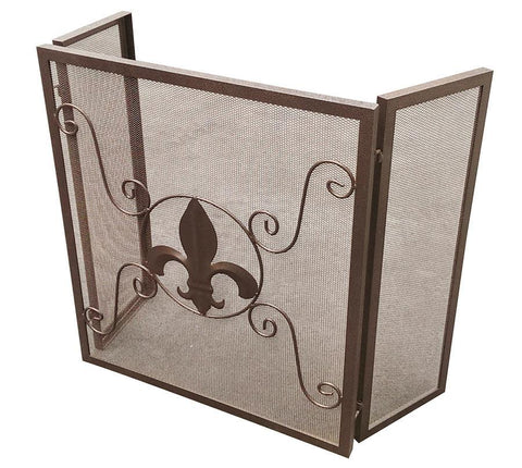 Fleur-de-lis Fireplace Screen - Fireplace Screen