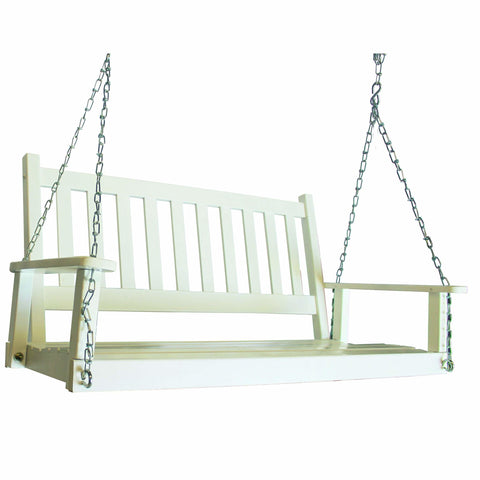 Heartland White Porch Swing - Porch Swing