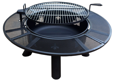 Louisiana Fleur-de-lis Fire Pit with Grates - Fire Pit