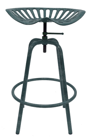 Metallic Tractor Seat Swivel Stool - Stool